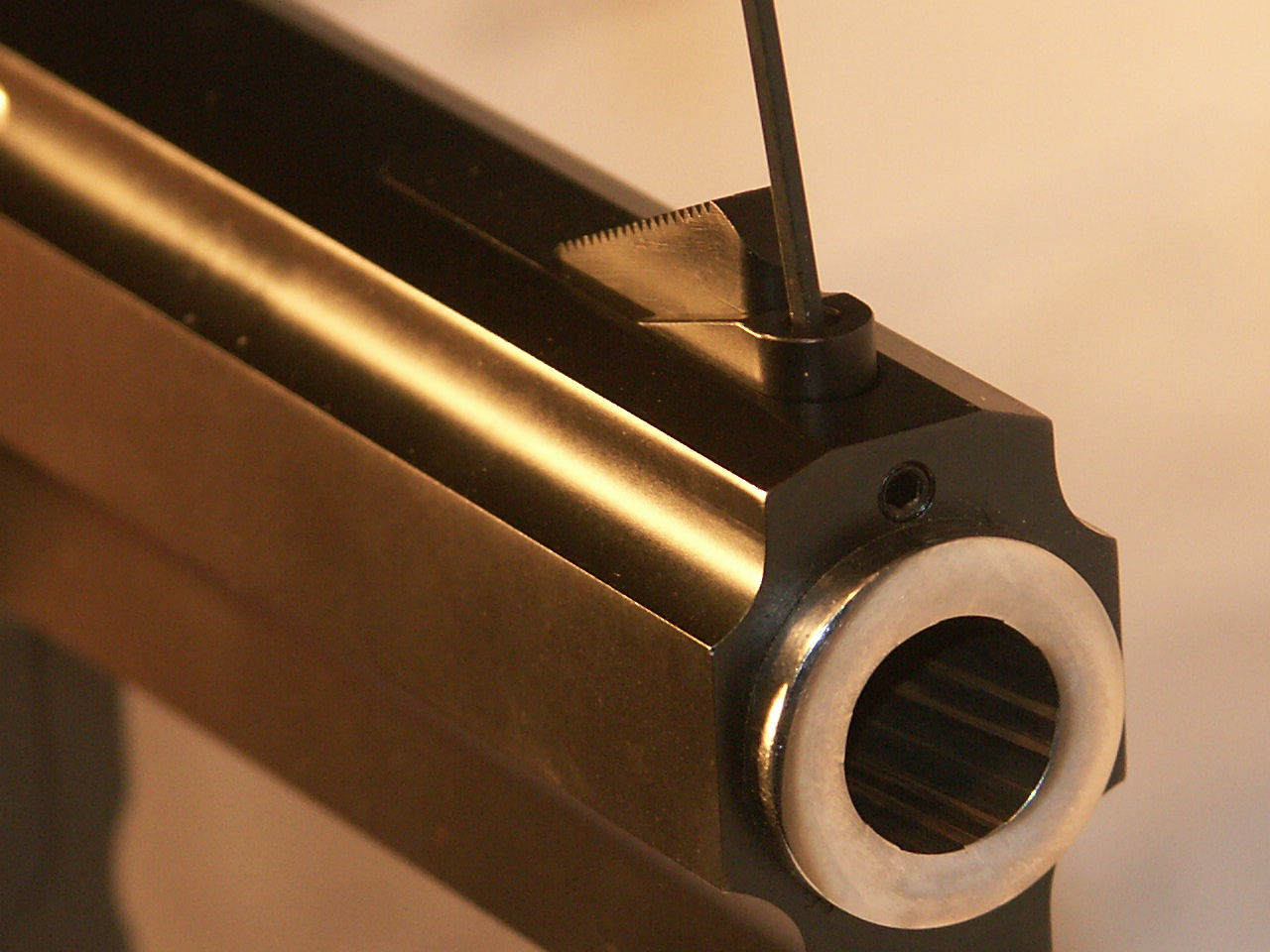 <strong>Front sight exchangeable and hight adjustable</strong>